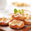Mini sweet cheese pastries — Stock Photo