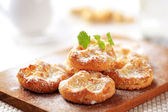 Mini sweet cheese pastries — Stock Photo