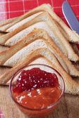 тост и варенья — Стоковое фото