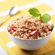 Bowl of granola — Stock Photo
