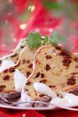 German Christmas fruitcake — Stock Photo