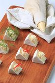 Cheese snacks — Stock Photo