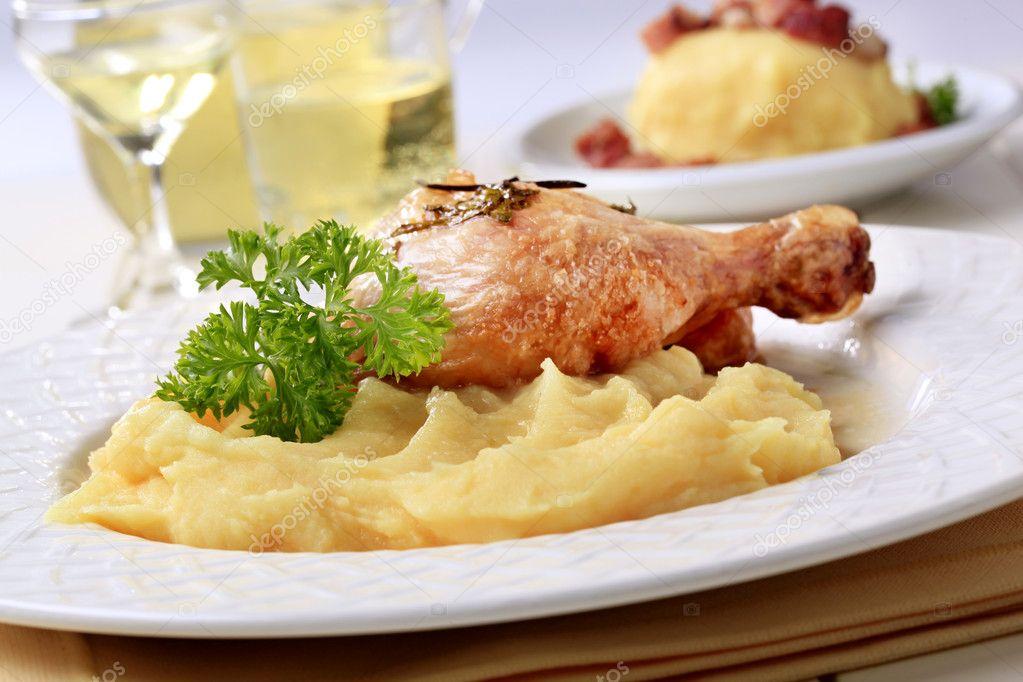Пюре картофельное с курицей рецепт