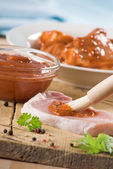 Marinated meat — Stock Photo