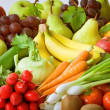 Stock Photo: Fresh vegetables and fruit