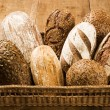 Stock Photo: Various types of brown bread