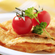Egg omelet - Stock Photo