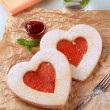 Heart shaped cookies — Stockfoto