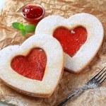 Heart shaped cookies — Stock Photo