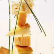 Stock Photo: Cheese and pear skewer
