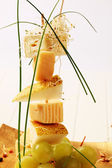 Cheese and pear skewer — Stock Photo
