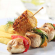 Royalty-Free Stock Photo: Chicken shish kebab