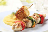 Chicken shish kebab — Stock Photo