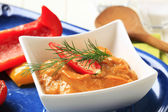 Bell pepper puree — Stock Photo