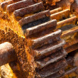 Rusty cogwheels - Foto Stock