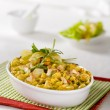 Chicken curry with pasta — Stock Photo