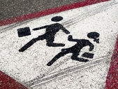 Street sign - Children crossing — Stock Photo