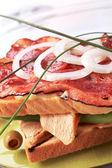 Delicious club sandwich — Stock Photo