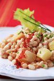 White bean salad — Stock Photo