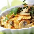 Vegetarian pasta dish — Stock Photo