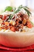 Spaghetti and ragu alla Bolognese — Stock Photo
