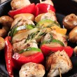 Chicken kebabs — Stockfoto