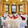 Stock Photo: Tables set for special occasion