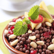 Chocolate breakfast cereal - Stock Photo