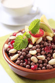 Chocolate breakfast cereal — Stock Photo