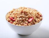 Bowl of crunchy granola — Stock Photo