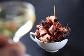 Bacon lindade katrinplommon — Stockfoto