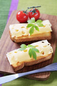 Cheese on toast — Stock Photo