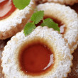 Jam biscuits — Foto Stock