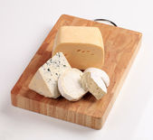 Selection of cheeses — Stock Photo