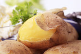 Potatoes cooked in their skin — Stock Photo