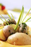 土豆和蘑菇 — 图库照片