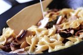 Pasta with mushrooms — Stock Photo