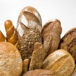 Stock Photo: Various types of bread