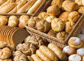 Assortment of baked products — Stock Photo