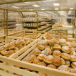 Doughnuts in a grocery store — Stock Photo