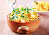 Broad ribbon pasta — Stockfoto