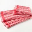 Red and white tea towel — Stock Photo