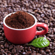 Ground coffee - Stock Photo