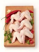 Raw chicken wings — Stock Photo