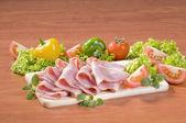 Sliced bacon — Stock Photo
