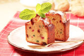 Slices of fruitcake — Stock Photo