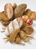 Variety of brown bread — Stock Photo