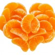 The Juicy segments of the tangerine. — Stock Photo