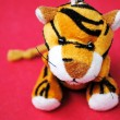 The Soft toy tiger. - Stock Photo