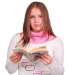 Girl with a book - Stock Photo